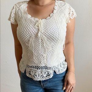 VTG Kroshetta | crochet short sleeve blouse